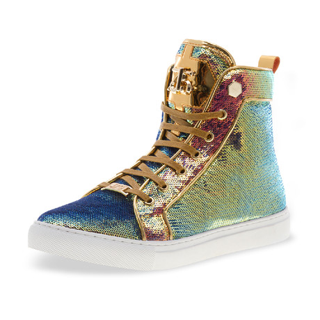 Rascal High-Top Sneaker // Wild Gold Sequins (US: 7)