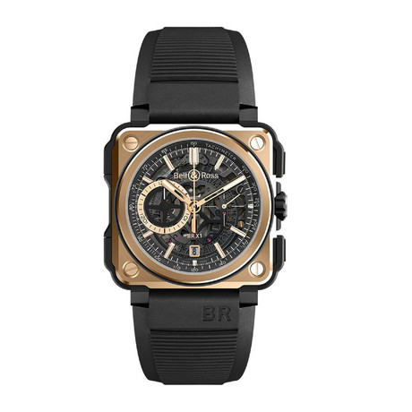 Bell & Ross Aviation Experimental Chronograph Automatic // BR-X1-ROSE-GOLD-CERAMIC // New