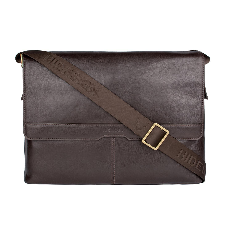 Helvellyn Leather Laptop Messenger Black Hidesign