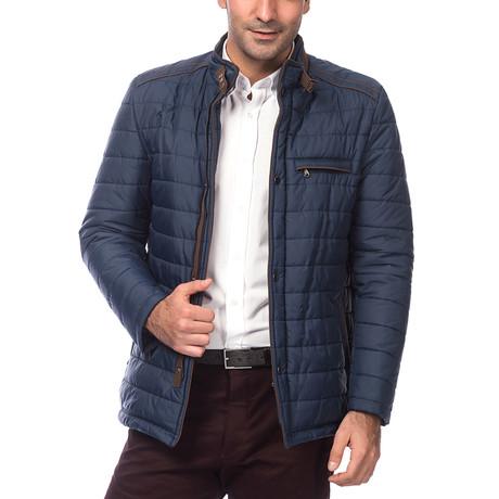M8610 Slim Fit Coat // Dark Blue (Small)