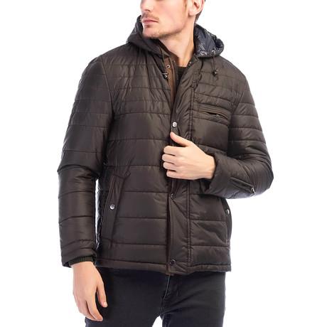 M8622 Coat // Brown (Small)