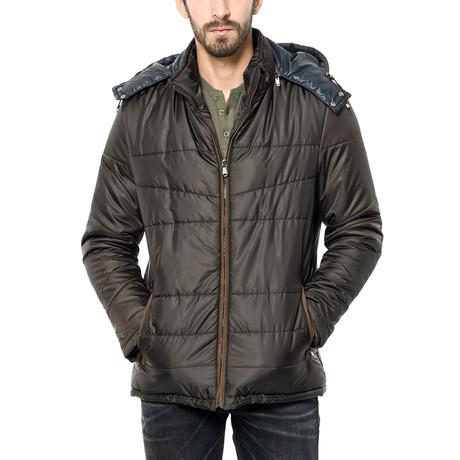 M8623 Coat // Brown (Small)