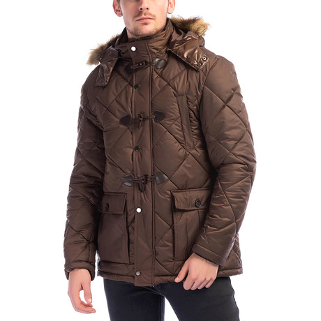 M8634 Coat // Light Brown (Small)