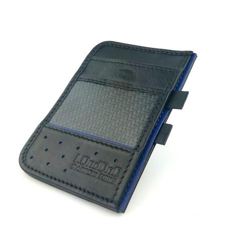 Clip Wallet (Black + Blue)
