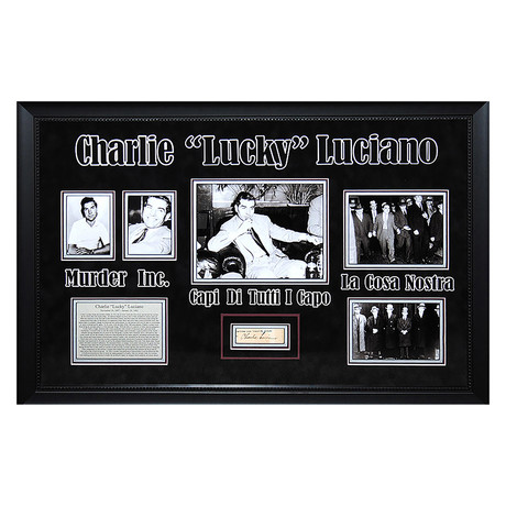 Signed + Framed Signature Collage // Charlie Luciano