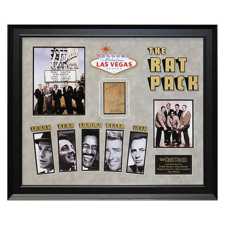 Signed + Framed Signature Collage // The Rat Pack