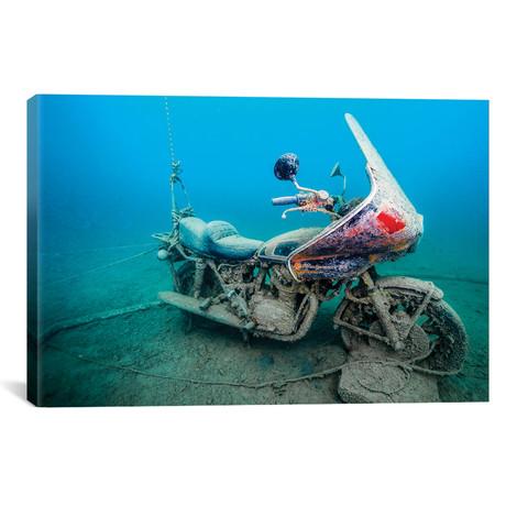 """A Sunken Windjammer Motorcycle // Jennifer Idol (18""""W x 12""""H x 0.75""""D)"""