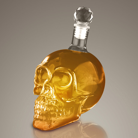 Skull Head 3D // Spirit Glass Decanter