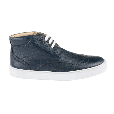 Full Grain Midtop Sneaker // Navy (US: 11)