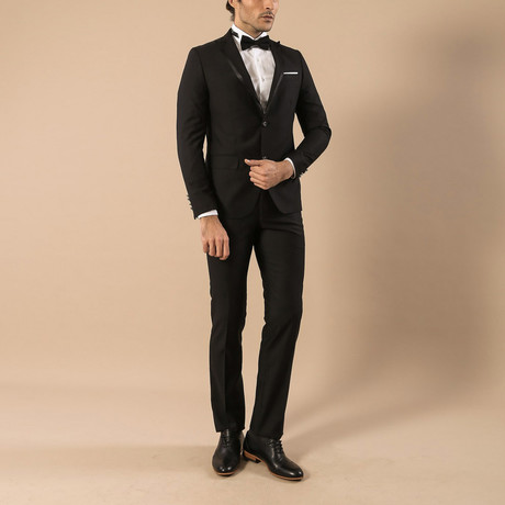 Tyron Slim Fit 2-Piece Tuxedo // Black (Euro: 44)