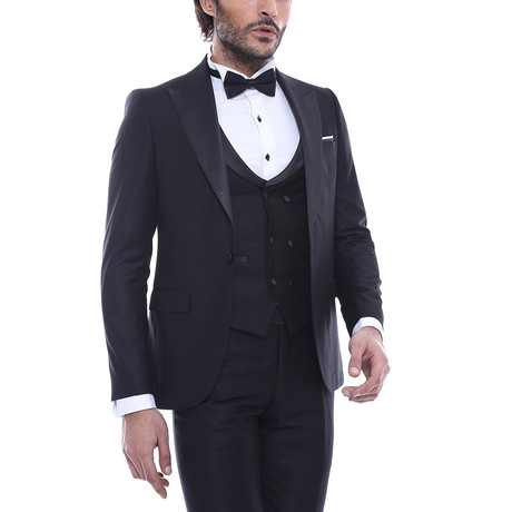 Mitchel Slim Fit 3-Piece Tuxedo // Black (Euro: 44)