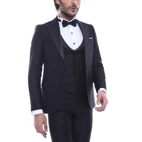 Mitchel Slim Fit 3-Piece Tuxedo // Black (Euro: 44)