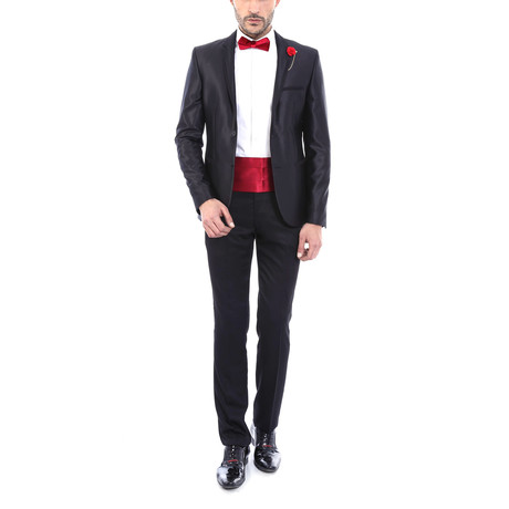 Raul Slim Fit 2-Piece Tuxedo // Black (Euro: 48)