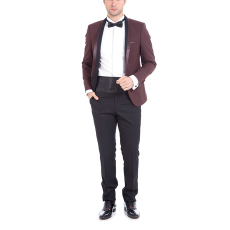 Clayton Slim Fit 2-Piece Tuxedo // Brown (Euro: 44)