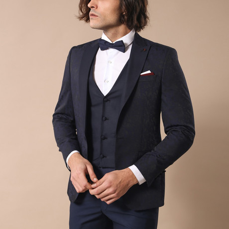 Earle Slim Fit 3-Piece Tuxedo // Navy (Euro: 44)