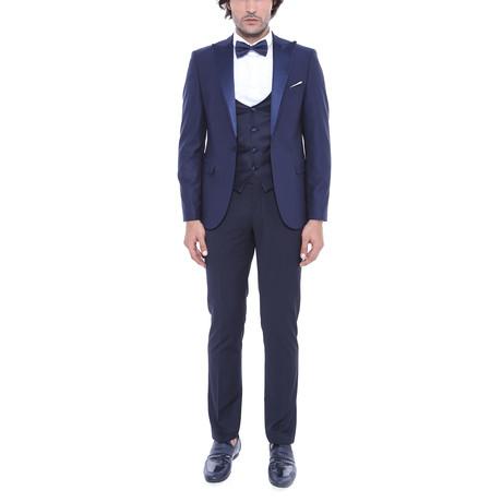 Santo Slim Fit 3-Piece Tuxedo // Navy (Euro: 44)