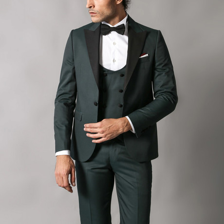 Orville Slim Fit 3-Piece Tuxedo // Green (Euro: 44)