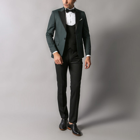 Stephen Slim Fit 3-Piece Tuxedo // Green (Euro: 44)