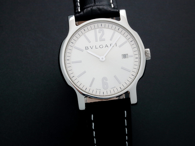 INOpets.com Anything for Pets Parents & Their Pets Amazing Watches Astounding Timepieces Bulgari Date Quartz // SA35 // Pre-Owned