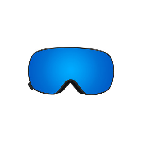 K2 Magnetic Snow // Black Frame + Blue Lens