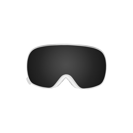 K2 Magnetic Snow // White Frame + Smoke Lens