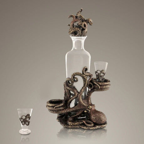 Octopus // Spirit Glass Decanter