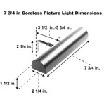 "Cordless LED Remote Controlled Picture Light // Satin Nickel (18"")"