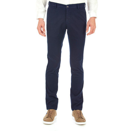 Martin Patterned Trousers // Dark Blue (Euro: 46)