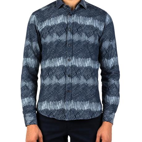 Craig Patterned Dress Shirt // Blue (S)