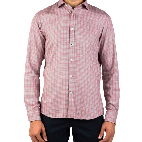 Triston Patterned Dress Shirt // Red Patterned (S)