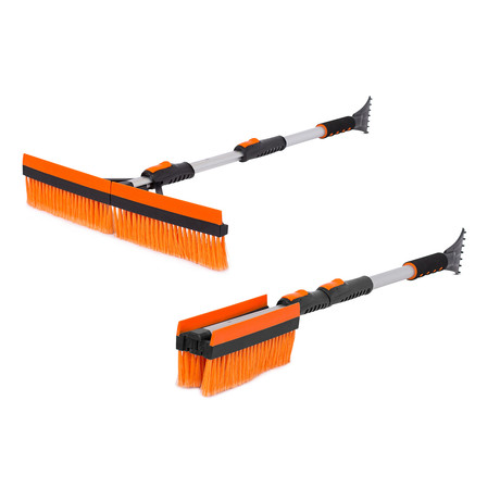 "Snow MOOver 46"" Extendable T-Shaped Snow Brush + Ice Scraper // Set of 2"