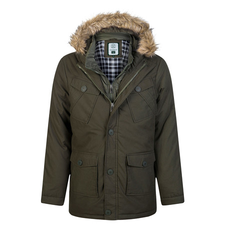 Fundamental Winter Coat // Army Green (XL)