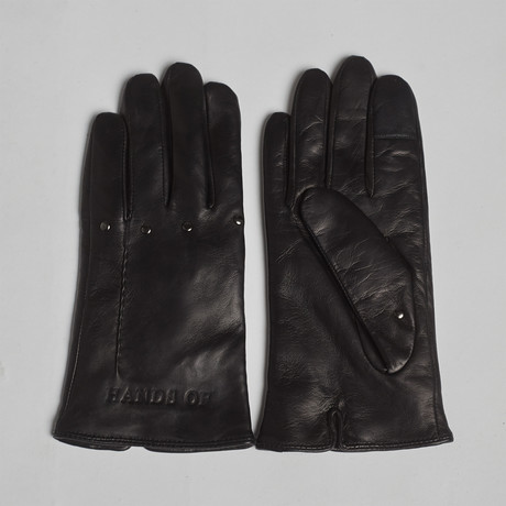 Hands of Apollo Leather Gloves // Black (XS)