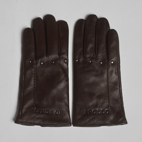 Hands of Apollo Leather Gloves // Brown (XS)