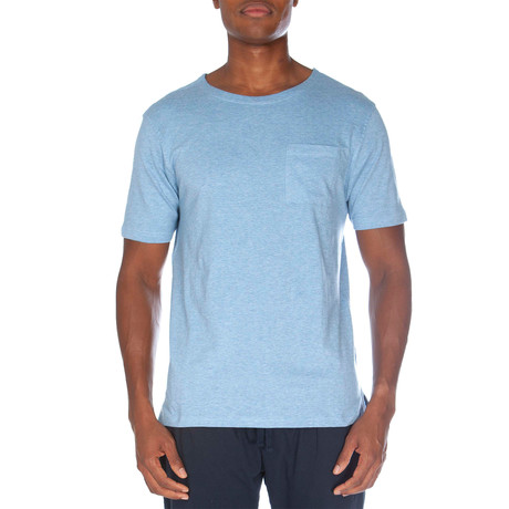 Super Soft Short Sleeve Pocket Tee // Light Blue Heather (S)