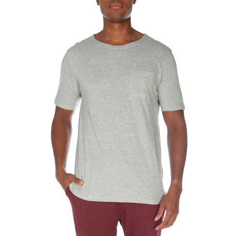 Super Soft Short Sleeve Pocket Tee // Light Heather Gray (S)