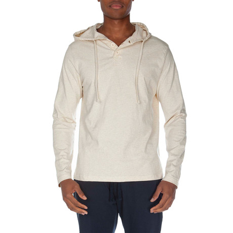 Super Soft Hooded Henley // Oatmeal Heather (S)