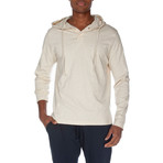 Super Soft Hooded Henley // Oatmeal Heather (M)