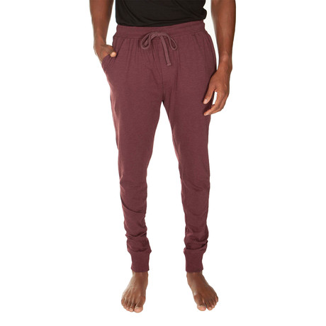Super Soft Cuffed Jogger // Cranberry Heather (S)