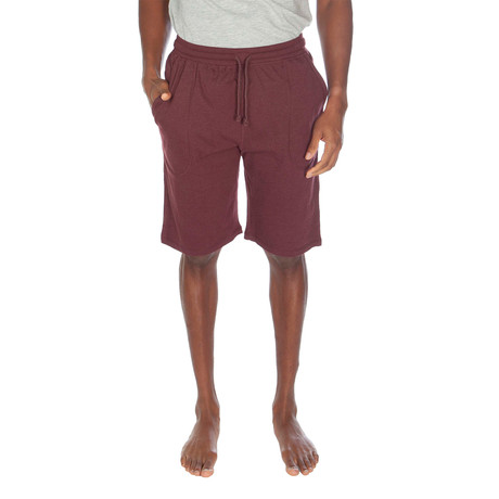 Super Soft Lounge Short // Cranberry Heather (S)