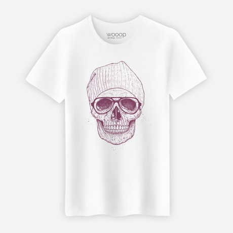 Cool Skull T-Shirt // White (S)