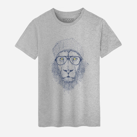 Cool Lion T-Shirt // Gray (S)