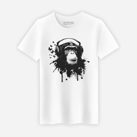 Creative Monkey T-Shirt // White (S)