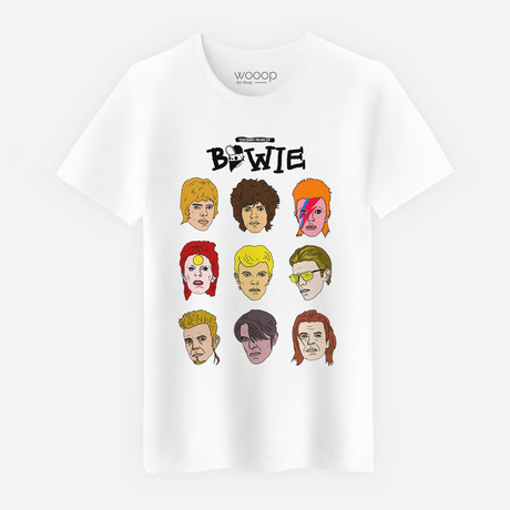 David Bowie T-Shirt // White (S)