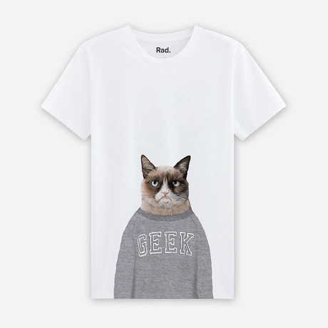 Grumpy Cat T-Shirt // White (S)