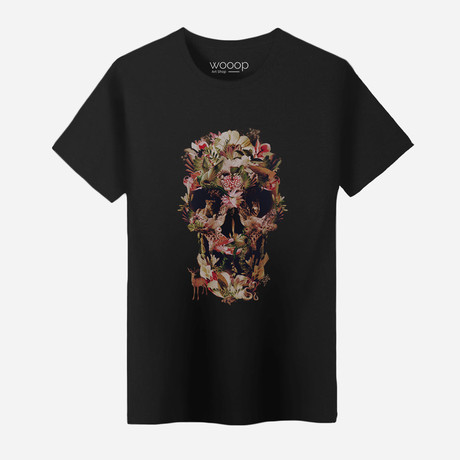 Jungle Skull T-Shirt // Black (S)