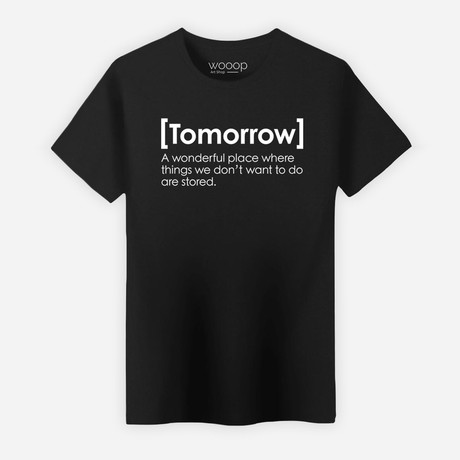 Tomorrow T-Shirt // Black (S)
