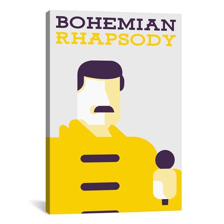 "Bohemian Rhapsody // Minimalist Poster // Freddie Mercury (18""W x 26""H x 0.75""D)"
