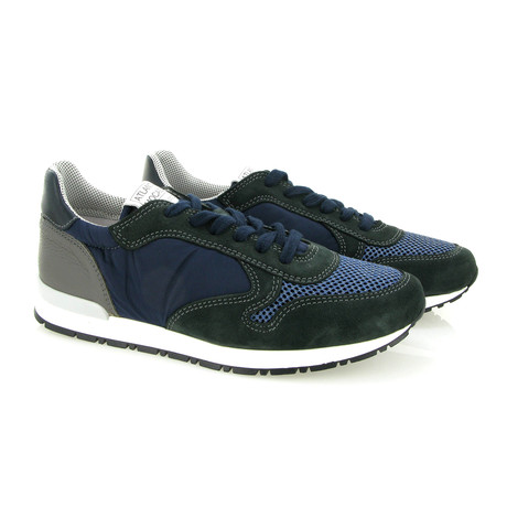 Randy Suede Runner Shoes // Gray + Blue (Euro: 42)