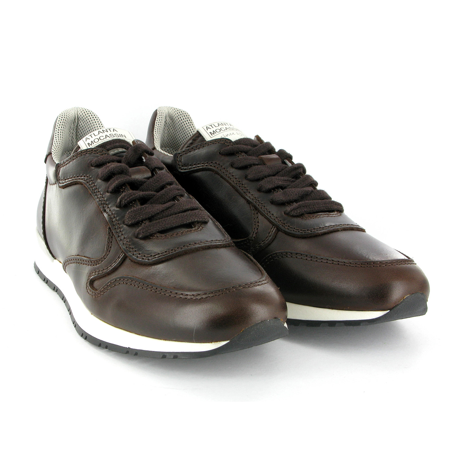 Silas Leather Runner Shoes // Brown